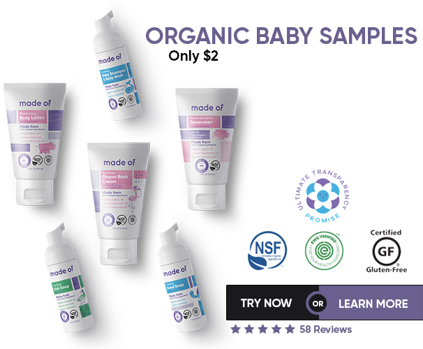 Organic Baby Product Samples