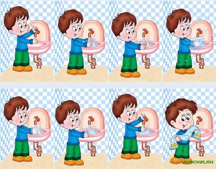 Картинки мытье рук в доу