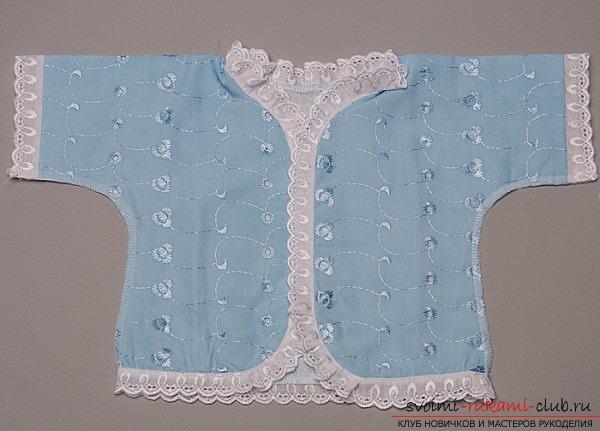 пошив красивой и качественной одежды для новорожденного своими руками. Фото №4