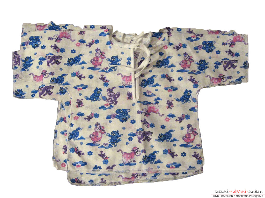 пошив красивой и качественной одежды для новорожденного своими руками. Фото №1
